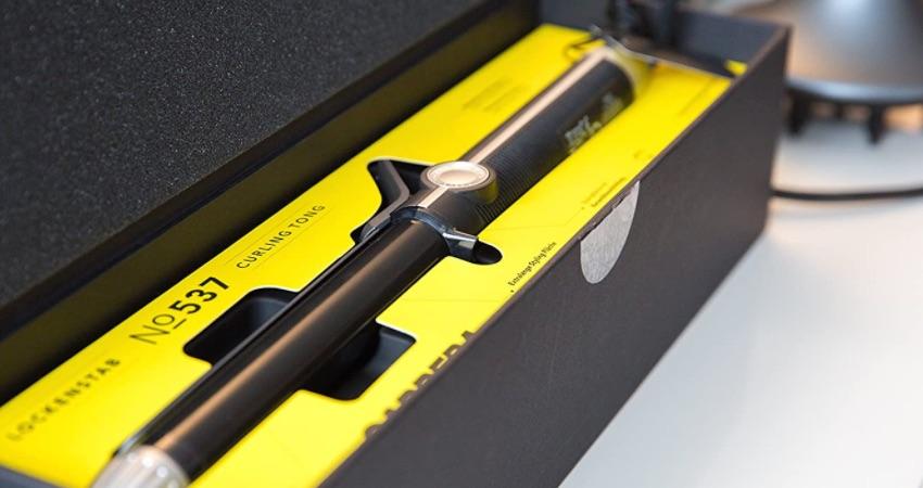 CARRERA Lockenstab No 537 | Ø 26 mm | Silikon-Schutzstreifen | Keramikbeschichtung | Cool Touch Tip | Boost-Funktion